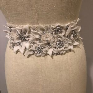 Anne barge beaded flower details stunning elegant